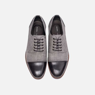 Josh Black Cap-Toe Lace Ups
