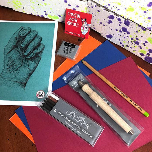 What's inside August 19 Red's Art Cart?