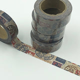 Popular Washi Tape | Decorative | Glitter | Pastel | Designs - Postage stamps