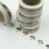 Popular Washi Tape | Decorative | Glitter | Pastel | Designs - Umbrellas