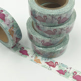 Popular Washi Tape | Decorative | Glitter | Pastel | Designs - Flamingos