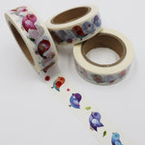 Popular Washi Tape | Decorative | Glitter | Pastel | Designs - Colourful birds
