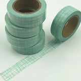 Popular Washi Tape | Decorative | Glitter | Pastel | Designs - Mint green lines