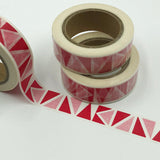 Popular Washi Tape | Decorative | Glitter | Pastel | Designs - Red pink triangles