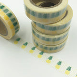 Popular Washi Tape | Decorative | Glitter | Pastel | Designs - Pineapples yellow polka dots