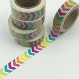 Popular Washi Tape | Decorative | Glitter | Pastel | Designs - Multi coloured arrows