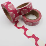 Popular Washi Tape | Decorative | Glitter | Pastel | Designs - Big pink polka dots