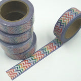 Popular Washi Tape | Decorative | Glitter | Pastel | Designs - Glitter zig-zag