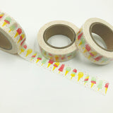 Popular Washi Tape | Decorative | Glitter | Pastel | Designs - Ice blocks & Ice creams