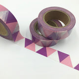 Popular Washi Tape | Decorative | Glitter | Pastel | Designs - Purple shade triangles