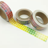 Popular Washi Tape | Decorative | Glitter | Pastel | Designs - Coloured wash mosaic