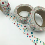 Popular Washi Tape | Decorative | Glitter | Pastel | Designs - Confetti