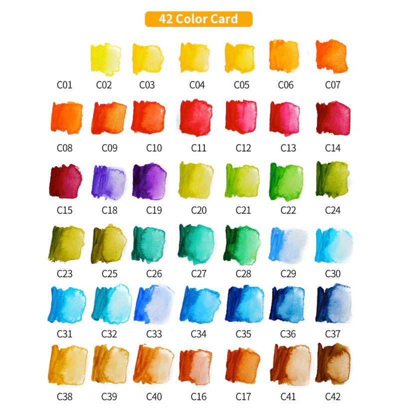Superior Watercolour Swatches - 18, 25, 33, 42 colour options
