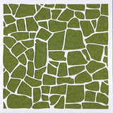 crazy paving design plastic art stencil