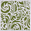 swirl pattern art stencil craft printmaking