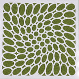 oval pattern art stencil small