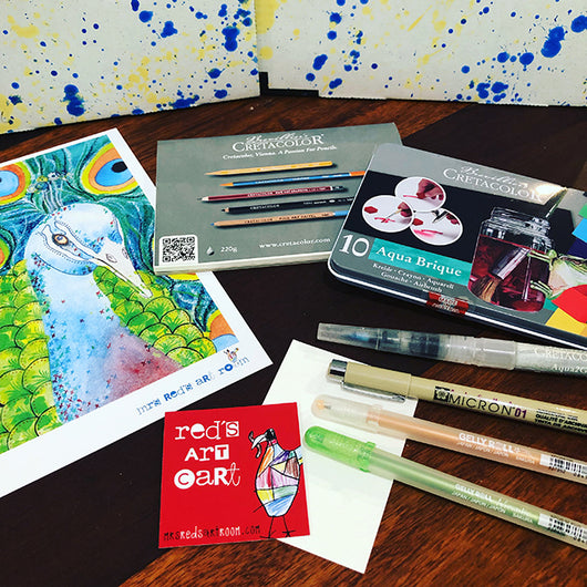 JANUARY 19 Red's Art Cart -  Art Subscription Box