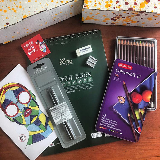 monthly arty subscription box