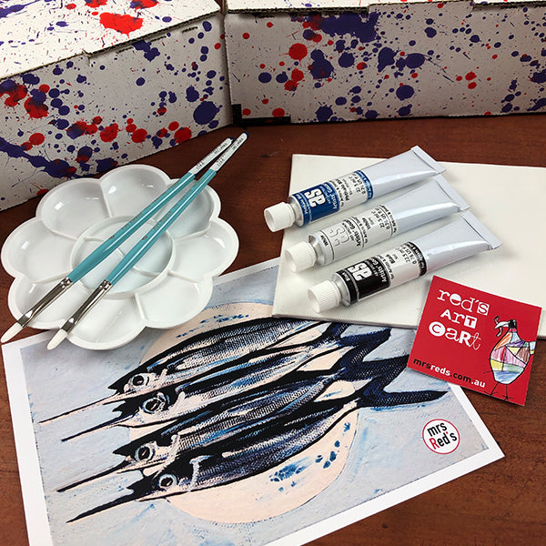 JULY 19 Red's Art Cart -  Art Subscription Box