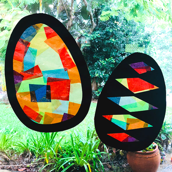Paper Stained Easter Eggs