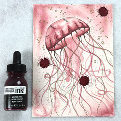 Liquitex Ink for drawing and painting with.