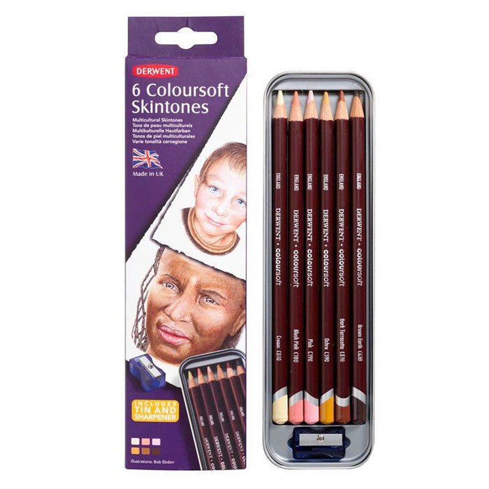 Derwent 6 Coloursoft Skintones