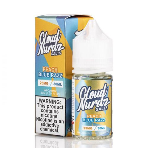 CLOUD NURDZ SALTS PEACH BLUE RAZZ