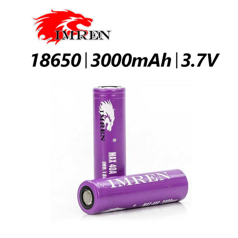 IMREN PURPLE 3000 BATTERIES PAIR