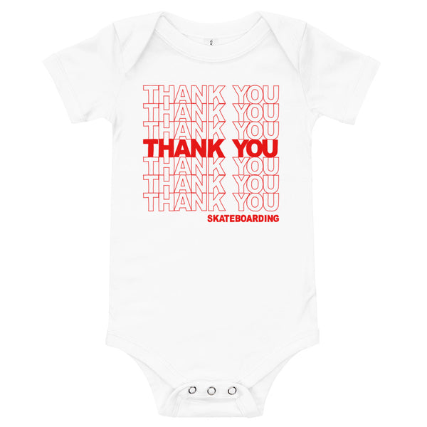 Thank You Skateboarding Onesie