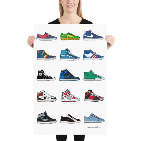 "Classic Skate Shoes 24""x36"" Art Print"