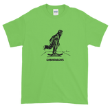 lime green graphic Bigfoot monster tee shirt diy sasquatch streetstyle thrasher