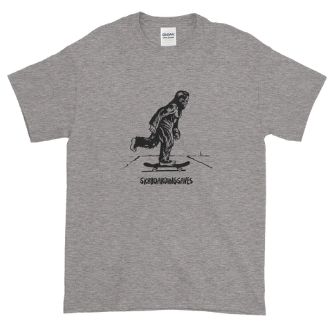 heather gray graphic Bigfoot monster tee shirt diy sasquatch streetstyle thrasher