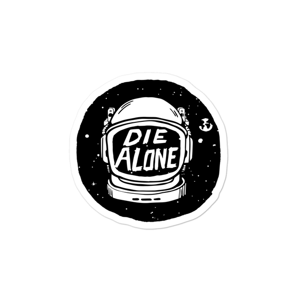 Die Alone HELMET sticker