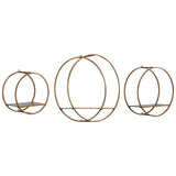 Ellison Drum Cage Shelves Set of 3