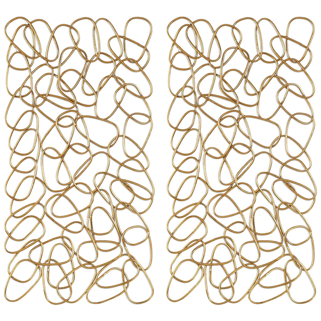 In The Loop Gold Wall Art Set of 2