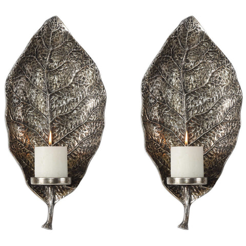 Zelkova Leaf Wall Sconces Set of 2