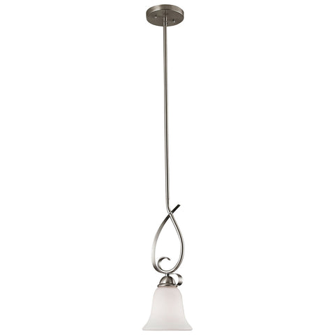 Brighton 1-Light LED Pendant in Brushed Nickel