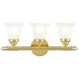 Neptune 3-Light Polished Brass Bath Light