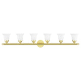 Neptune 6-Light Polished Brass Bath Light