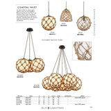 Coastal Inlet 1-Light Rope and Clear Glass Mini Pendant in Oiled Bronze