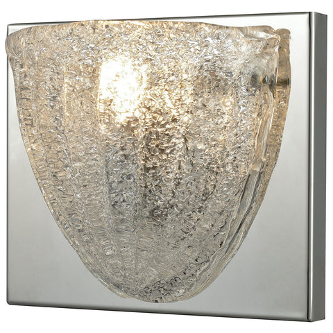 Verannis 1-Light Vanity Sconce in Polished Chrome