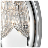 Kersey 1-Light Vanity Light in Polished Chrome with Clear Crystal