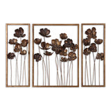 Metal Tulips Wall Art, Set of 3