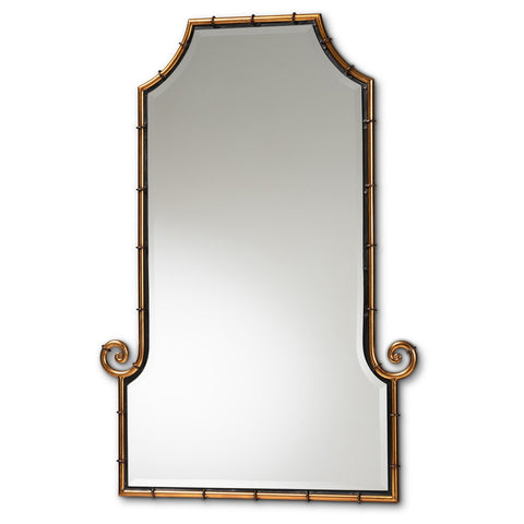 Baxton Studio Layanourous Hollywood Regency Style Gold Accent Wall Mirror