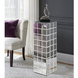 Antares Tall Mirrored Puzzle Cube Pedestal
