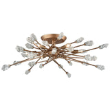 Serendipity 6-Light Semi Flush in Matte Gold With Clear Bubble Glass