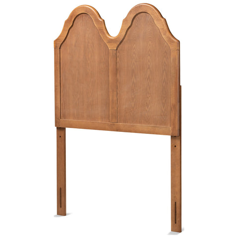 Baxton Studio Tobin Ash Walnut Arched Headboard
