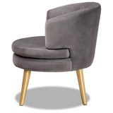 Baxton Studio Baptiste Fabric Upholstered Accent Chair