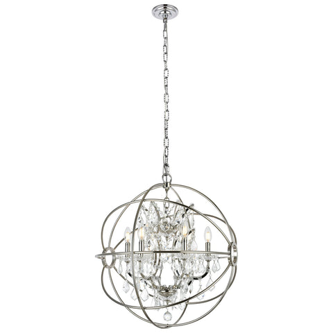 Geneva 6-Light 25-Inch Chandelier with Clear Royal Cut Crystal