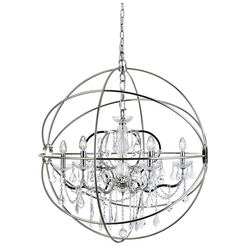 Geneva 6-Light 32-Inch Chandelier with Clear Royal Cut Crystal